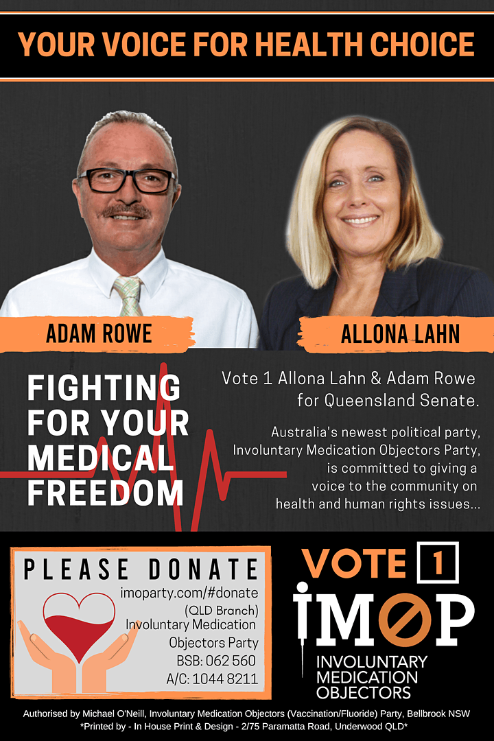 Allona Lahn QLD Senate Candidate for IMOParty image