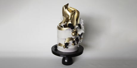 Modern Concrete Gold Cake Decorating Class Brisbane. tickets