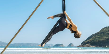 Aerial Beach Yoga - beginners (1, 8, 22, 29 June) tickets