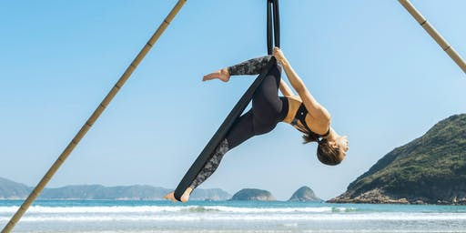 Aerial Beach Yoga - beginners (1, 8, 22, 29 June)