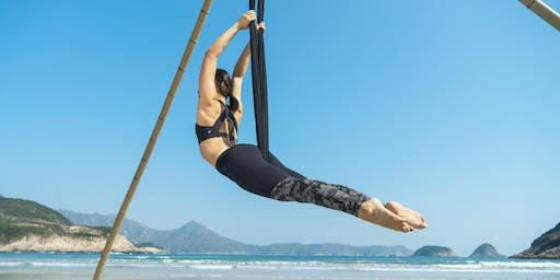 Aerial beach yoga - intermediate/advanced (1, 8, 15, 22, 29 June)