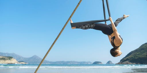 Aerial beach yoga - intermediate/advanced (2, 9, 16, 23, 30 June)