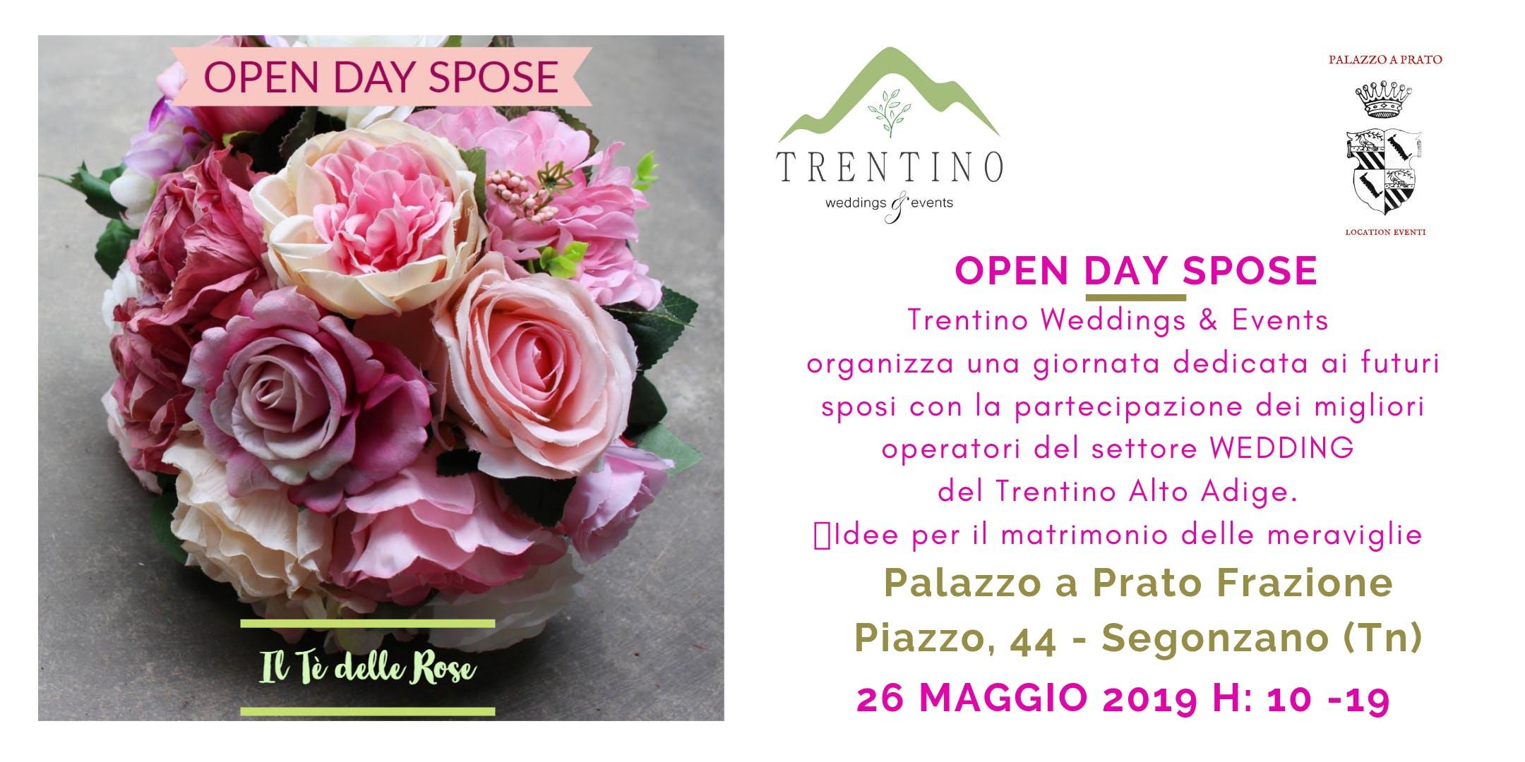 827a6b12a9fc OPEN DAY SPOSE - Il Tè delle Rose di Trentino Weddings   Events