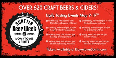Seattle Beer Week - Mazama Brewing Tasting