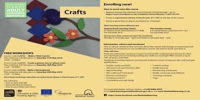 Crafts+%40+Leytonstone+Library