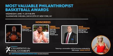 2019  Most Valuable Philanthropist  Basketball Awards tickets