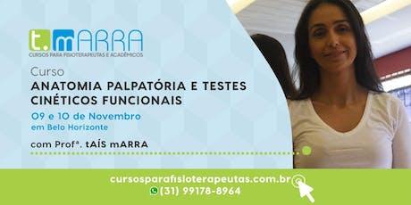 ANATOMIA PALPATÓRIA E TESTES CINÉTICOS FUNCIONAIS ingressos
