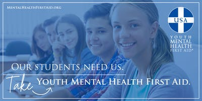 Youth Mental Health First Aid Training - Cheshire, CT