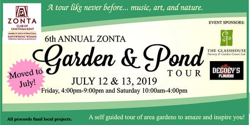 Zonta Garden and Pond Tour 2019