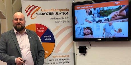 """Gesundheitsvortrag zur """"Physikalischen Gefässtherapie BEMER®"""" mit kostenfreier Therapie Tickets"""