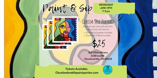 Paint and Sip: Cubism Self Portrait