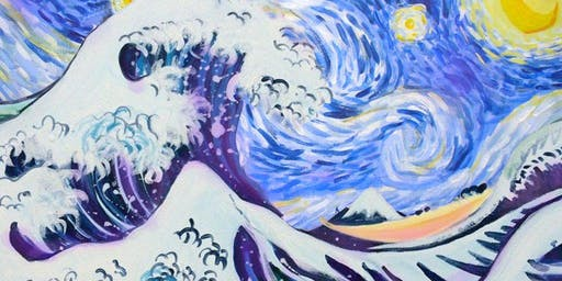 Paint Starry Night over the Great Wave! Manchester, Saturday 13 July