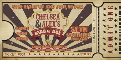 Chelsea & Alex's Stag & Doe tickets