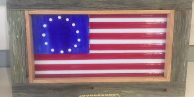 Fused Glass American Flag Class