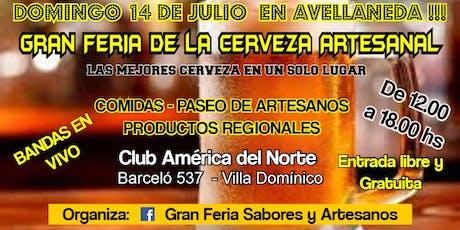 GRAN FERIA DE LA CERVEZA ARTESANAL EN AVELLANEDA entradas