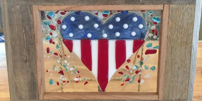 Patriotic Heart Fused Glass Class