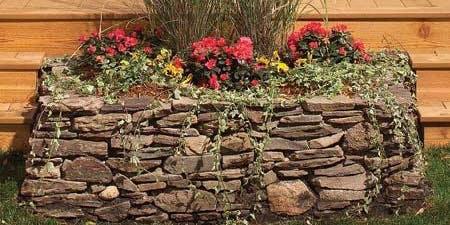 DIY Stone Garden Beds