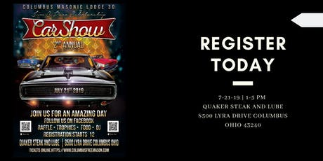 2nd Annual James C. Pace Scholarship Car Show Fundraiser tickets
