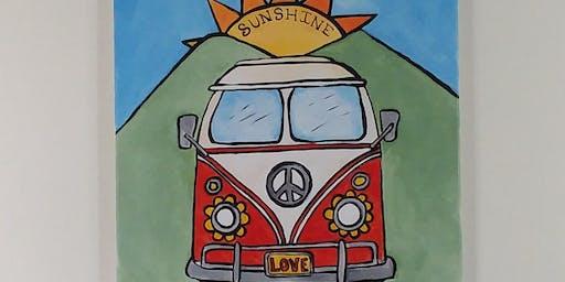 Sunshine Daydream - Chautauqua Paint Party  - Wythe Arts Council Fundraiser