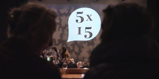 5 Speakers, 15 Minutes Each - June 17 - The Tabernacle