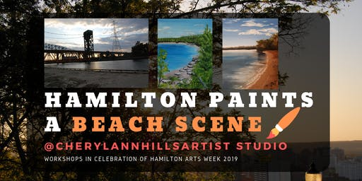 Hamilton Paints a Beach Scene 2 - Hamilton Arts Week 2019