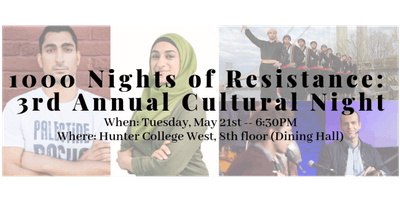 3rd Annual Cultural Night: 1000 Nights of Resistance