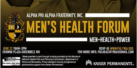 Alpha Phi Alpha Fraternity Inc Pi Upsilon Lambda Chapter Men's Health Forum tickets