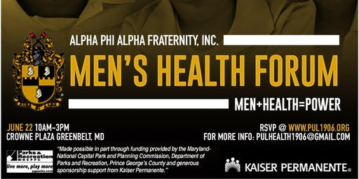 Alpha Phi Alpha Fraternity Inc Pi Upsilon Lambda Chapter Men's Health Forum