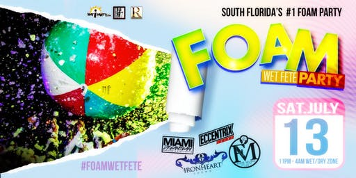Foam Wet Fete Summer Series on the beach