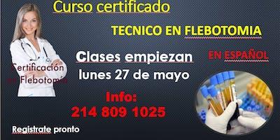 Certifícate como técnico en flebotomía