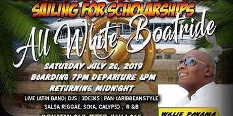 "JAMMIN ON THE BAY 2019 ""Sailing for Scholarships"" ALL WHITE BOATRIDE tickets"