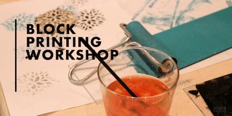 Block Printing Workshop tickets