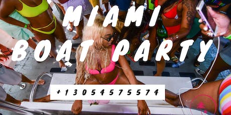 #Miami Beach all inclusive Boat Party + Jet Ski + Banana Boat tickets