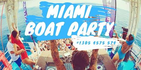 6 Parties 1 Price - Miami Beach all inclusive Boat Party + Jet Ski + Banana Boat tickets