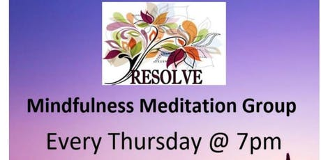 Resolve Counselling Centre Mindfulness Meditation Group tickets
