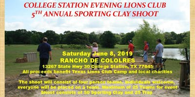 College Station Evening Lions Club 5th Annual Sporting Clay Tournament
