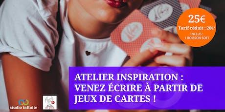 Atelier à Chelles (77) : écrire à partir d'un jeu de cartes billets