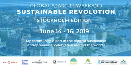 Global Startup Weekend Sustainable Revolution STOCKHOLM tickets