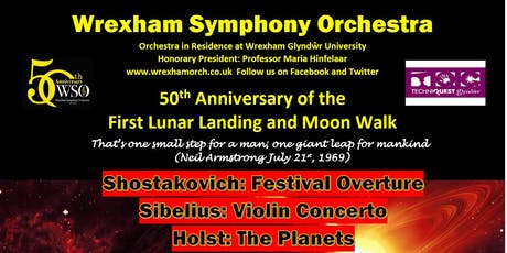 Wrexham Symphony Orchestra - 50th Anniversary Concert of the Lunar Landing and Moonwalk tickets