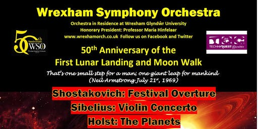 Wrexham Symphony Orchestra - 50th Anniversary Concert of the Lunar Landing and Moonwalk