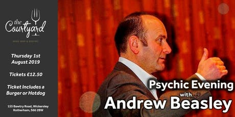 Psychic Night with Andrew Beasley (Ticket includes a Burger or Hotdog) tickets