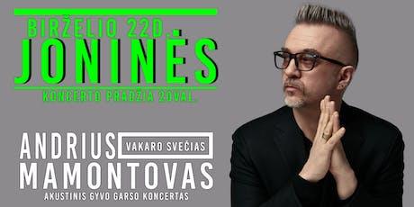 Andrius Mamontovas-JONINIŲ koncertas Dundalk'e tickets