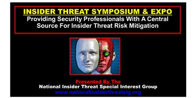 National Insider Threat Special Interest Group Symposium & Expo 9-10-19 -- ATTENDEE REGISTRATION