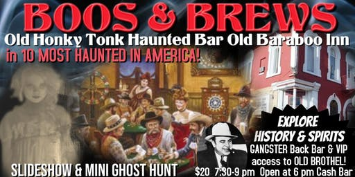 BOOS & BREWS: Haunted Old Saloon History and Mini Ghost Hunt at Haunted Bar, Old Baraboo Inn