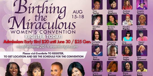 "MANIFEST IN ME 2019 CONFERENCE  ""BIRTHING THE MIRACULOUS"""