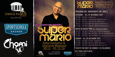 Super Mario, Salsa Exclusive & Intensive Weekend in Aachen