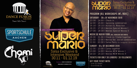 Super Mario, Salsa Exclusive & Intensive Weekend in Aachen tickets