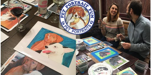Sip and Paint a Pet Portrait Fun-UES-Fri. June 28