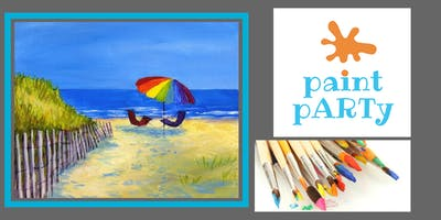 Paint'N'Sip Canvas - Umbrella Chair Fence - $35 pp
