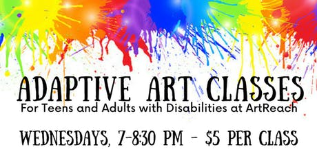 Adaptive Art Classes (Teens & Adults with Disabilities) tickets